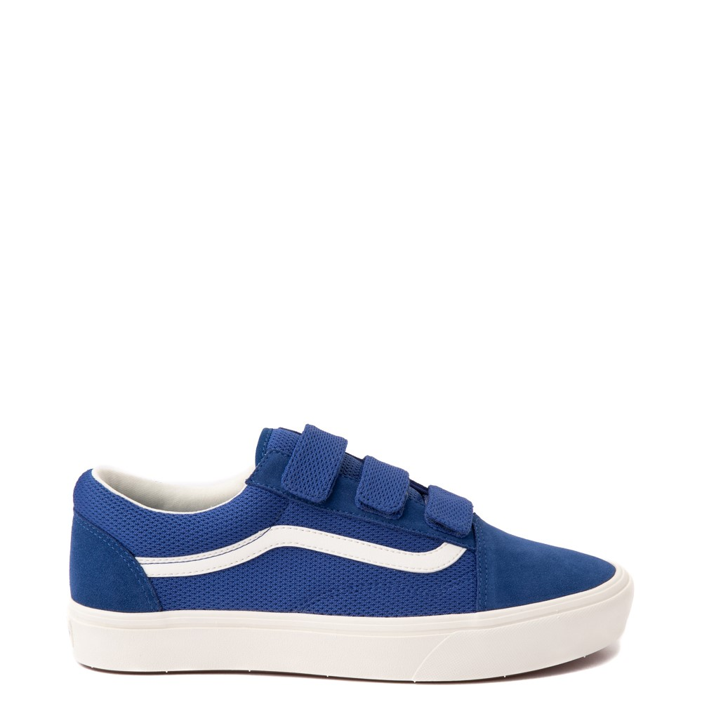 Vans Old Skool V ComfyCush® Autism Acceptance Checkerboard Skate Shoe - True Blue