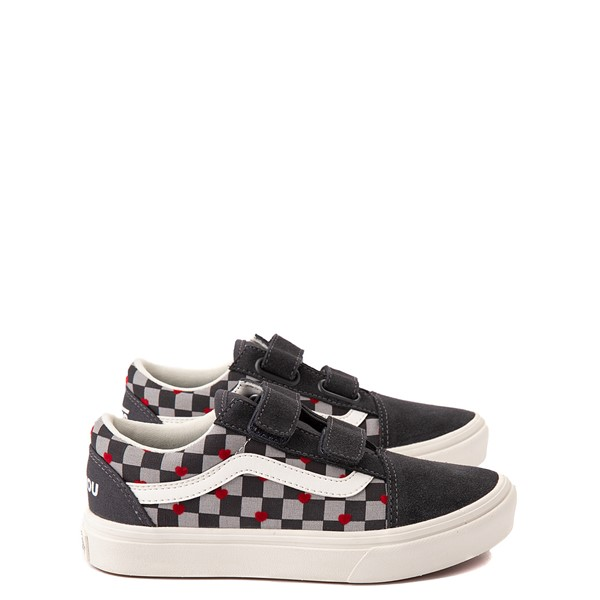 Main view of Vans Old Skool V ComfyCush® Autism Acceptance Checkerboard Skate Shoe - Little Kid - Asphalt