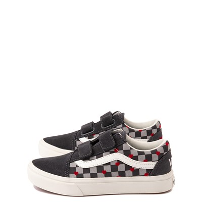 Alternate view of Vans Old Skool V ComfyCush® Autism Acceptance Checkerboard Skate Shoe - Little Kid - Asphalt