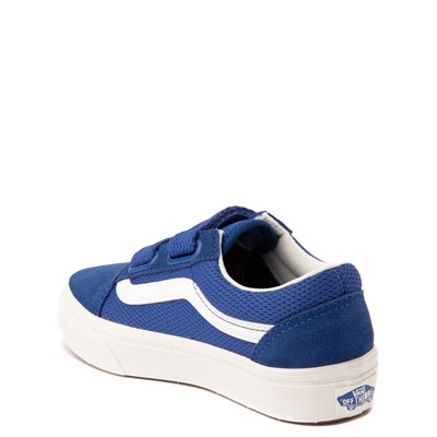Alternate view of Vans Old Skool V ComfyCush® Autism Acceptance Checkerboard Skate Shoe - Little Kid - True Blue