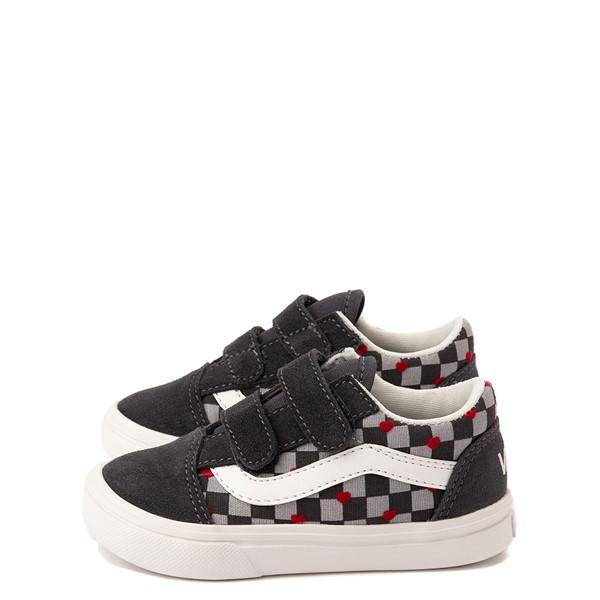 alternate view Vans Old Skool V ComfyCush® Autism Acceptance Checkerboard Skate Shoe - Baby / Toddler - AsphaltALT1