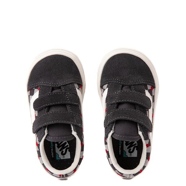 alternate view Vans Old Skool V ComfyCush® Autism Acceptance Checkerboard Skate Shoe - Baby / Toddler - AsphaltALT2