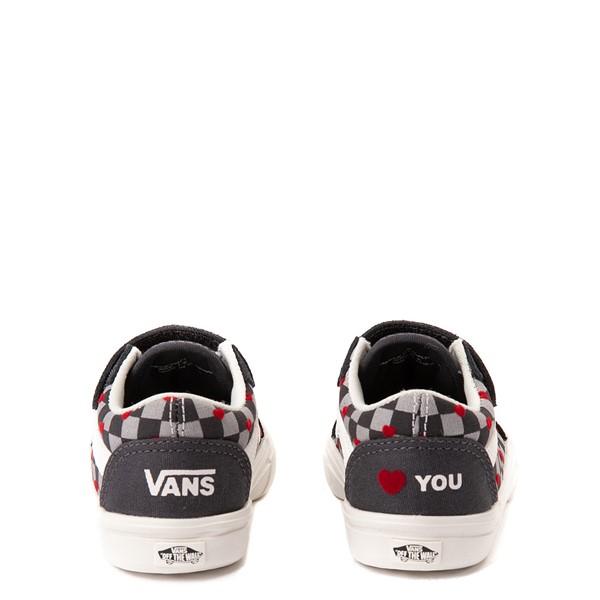 alternate view Vans Old Skool V ComfyCush® Autism Acceptance Checkerboard Skate Shoe - Baby / Toddler - AsphaltALT4