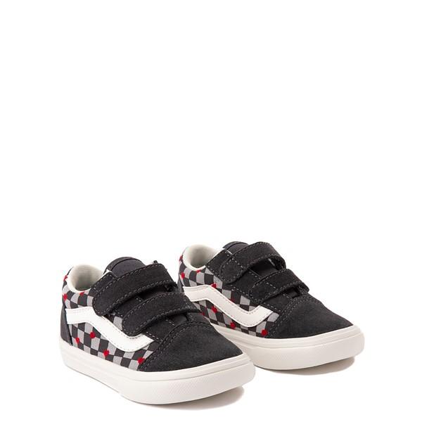 alternate view Vans Old Skool V ComfyCush® Autism Acceptance Checkerboard Skate Shoe - Baby / Toddler - AsphaltALT5