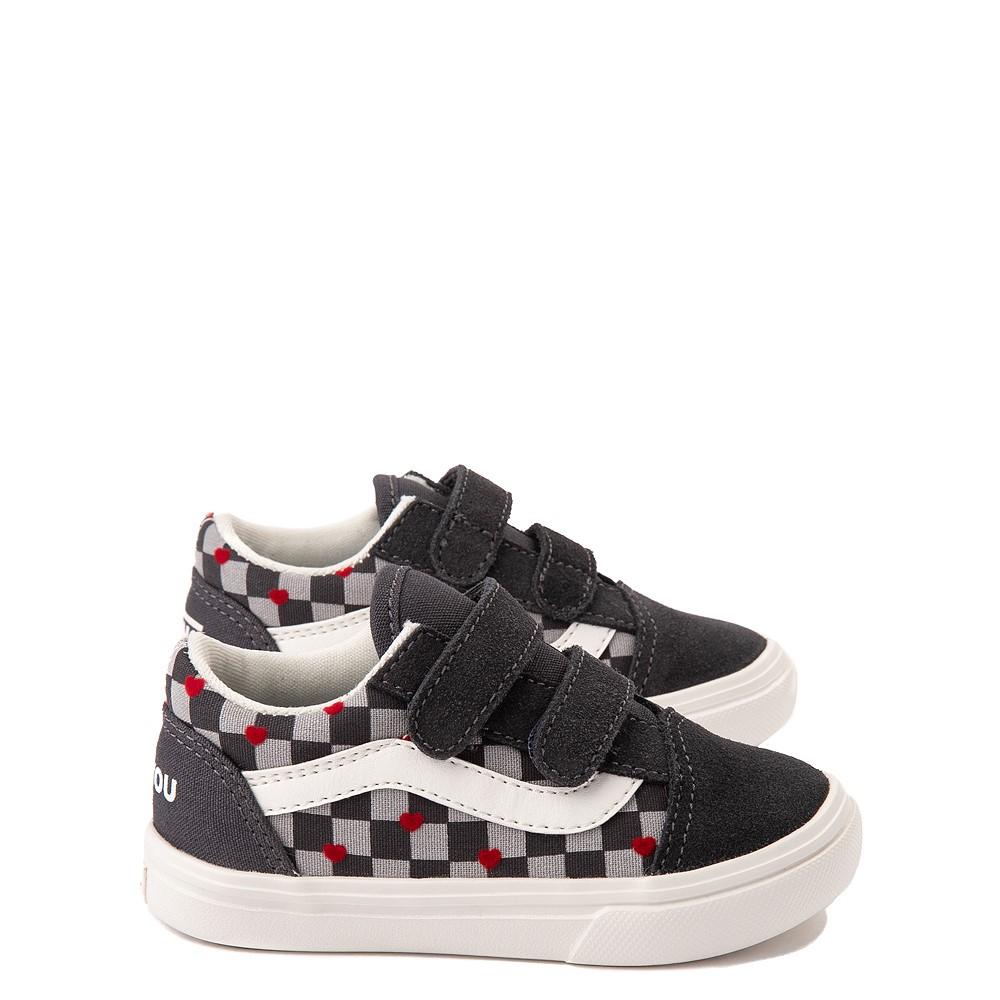 Vans Old Skool V ComfyCush® Autism Acceptance Checkerboard Skate Shoe - Baby / Toddler - Asphalt
