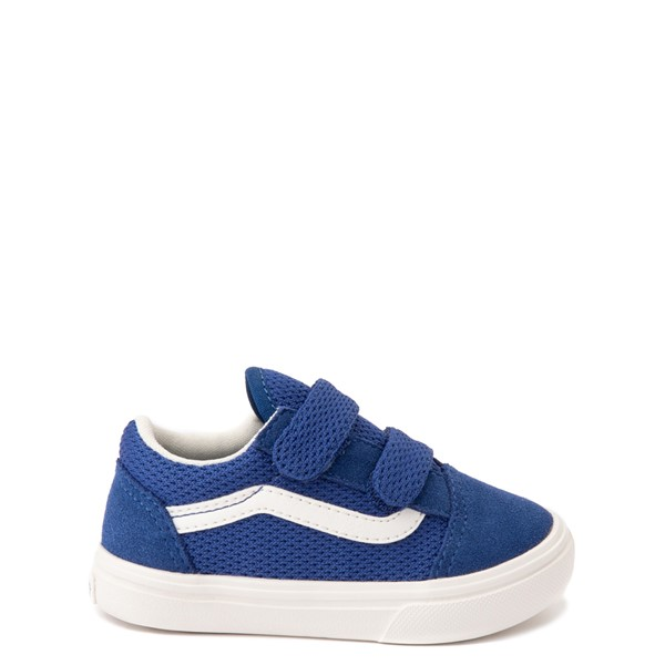 Main view of Vans Old Skool V ComfyCush® Autism Acceptance Checkerboard Skate Shoe - Baby / Toddler - True Blue