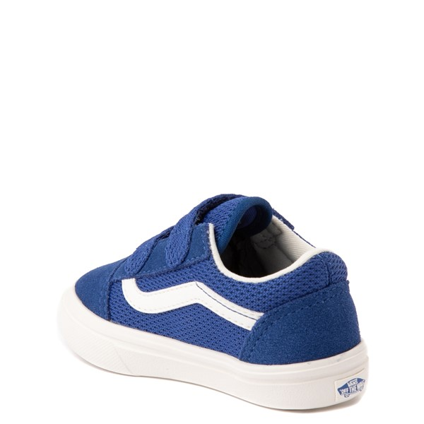 alternate view Vans Old Skool V ComfyCush® Autism Acceptance Checkerboard Skate Shoe - Baby / Toddler - True BlueALT1