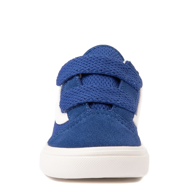 alternate view Vans Old Skool V ComfyCush® Autism Acceptance Checkerboard Skate Shoe - Baby / Toddler - True BlueALT4