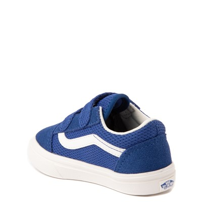 Alternate view of Vans Old Skool V ComfyCush® Autism Acceptance Checkerboard Skate Shoe - Baby / Toddler - True Blue
