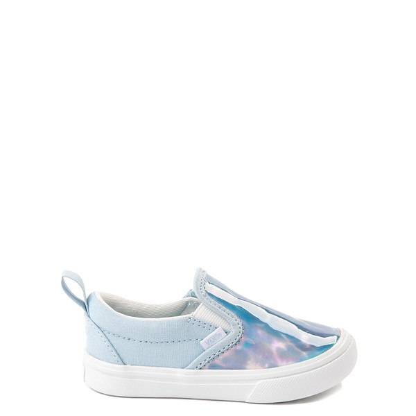 Main view of Vans Slip On V ComfyCush® Autism Acceptance Skate Shoe - Baby / Toddler - Dream Blue