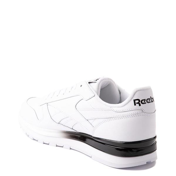 alternate view Mens Reebok Classic Athletic Shoe - White / BlackALT1