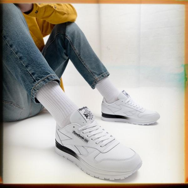 alternate view Mens Reebok Classic Athletic Shoe - White / BlackALT1B