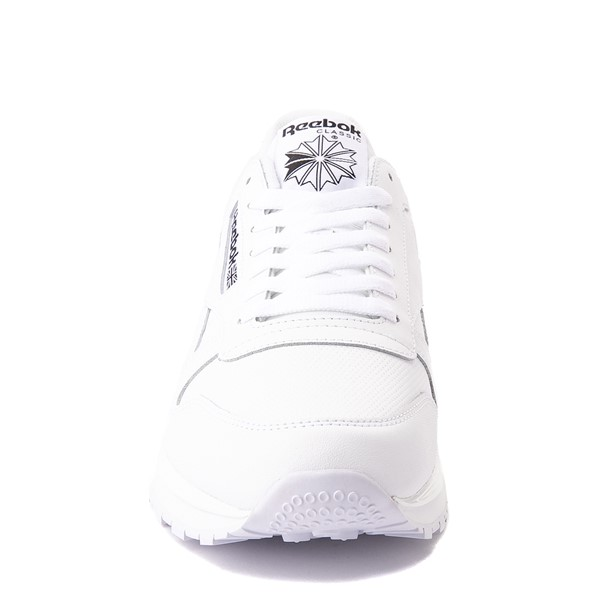alternate view Mens Reebok Classic Athletic Shoe - White / BlackALT4