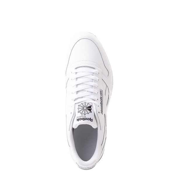 alternate view Mens Reebok Classic Athletic Shoe - White / BlackALT4B