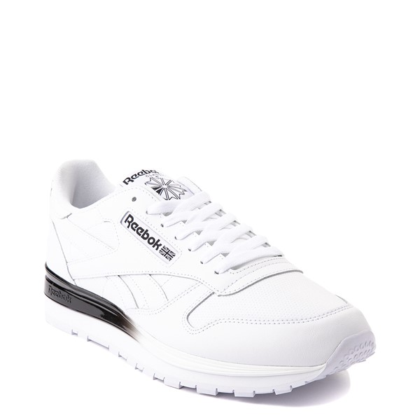 alternate view Mens Reebok Classic Athletic Shoe - White / BlackALT5