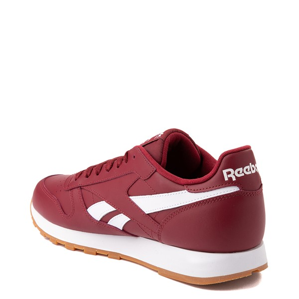 alternate view Mens Reebok Classic Athletic Shoe - Burgundy / GumALT1