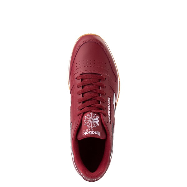 alternate view Mens Reebok Classic Athletic Shoe - Burgundy / GumALT2