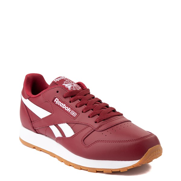 alternate view Mens Reebok Classic Athletic Shoe - Burgundy / GumALT5