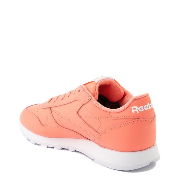 alternate view Womens Reebok Classic Leather Athletic Shoe - CoralALT1