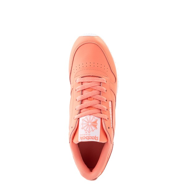 alternate view Womens Reebok Classic Leather Athletic Shoe - CoralALT2