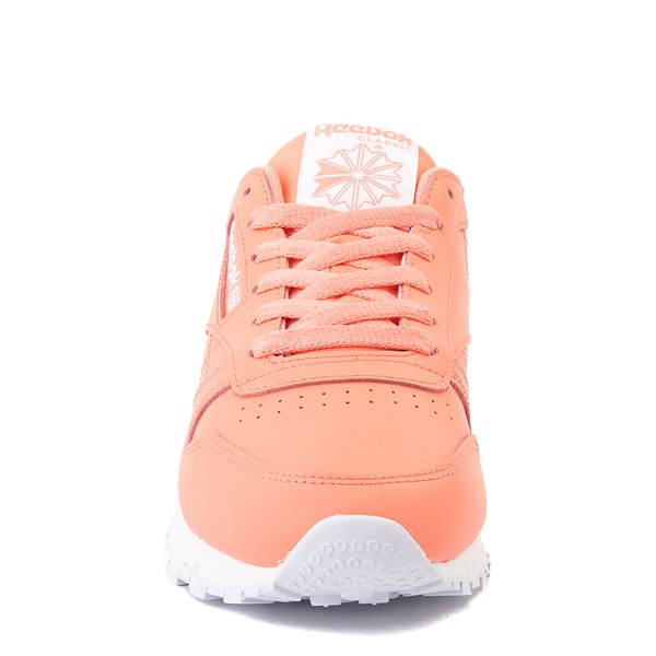 alternate view Womens Reebok Classic Leather Athletic Shoe - CoralALT4