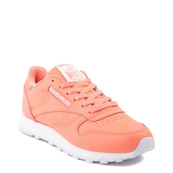 alternate view Womens Reebok Classic Leather Athletic Shoe - CoralALT5