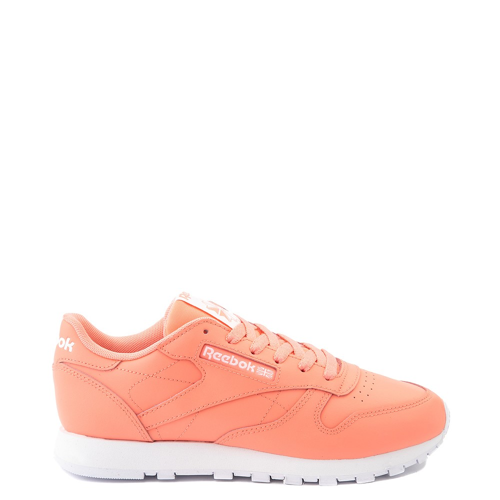 Womens Reebok Classic Leather Athletic Shoe - Coral