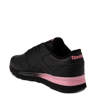 Alternate view of Womens Reebok Classic Athletic Shoe - Black / Pink