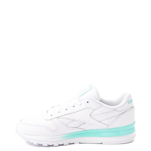 alternate view Womens Reebok Classic Athletic Shoe - White / AquaALT1