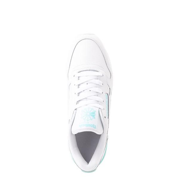 alternate view Womens Reebok Classic Athletic Shoe - White / AquaALT2