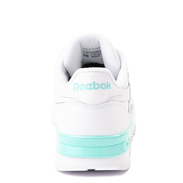 alternate view Womens Reebok Classic Athletic Shoe - White / AquaALT4
