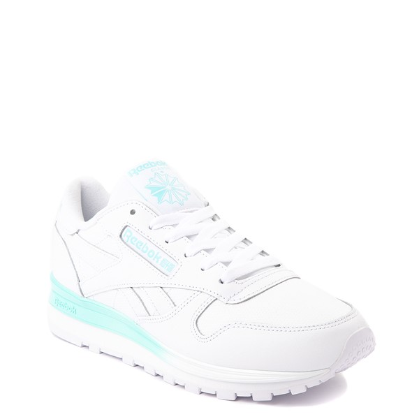 alternate view Womens Reebok Classic Athletic Shoe - White / AquaALT5