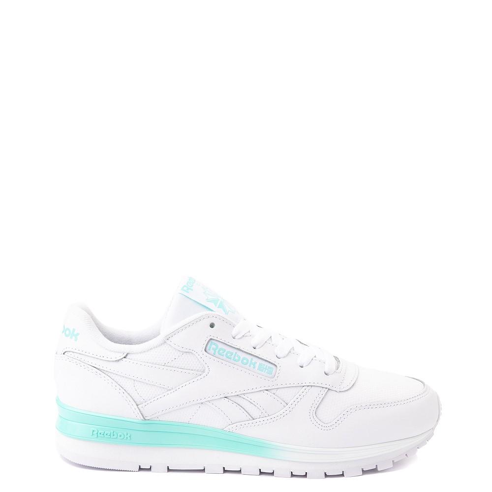 Womens Reebok Classic Athletic Shoe - White / Aqua