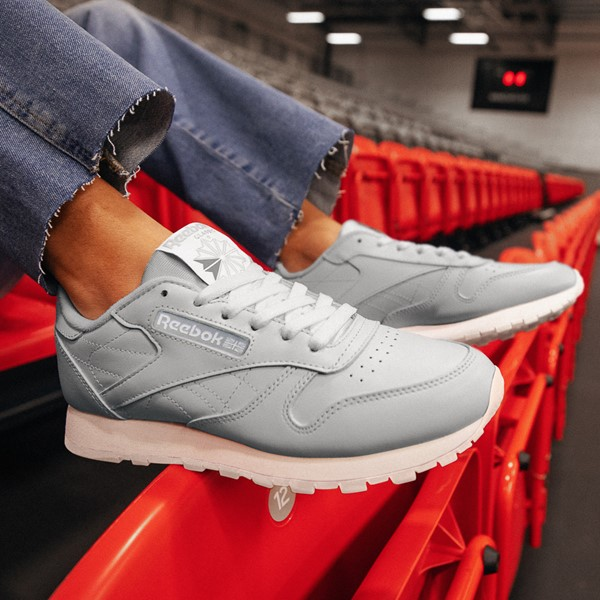 alternate view Womens Reebok Classic Athletic Shoe - GrayALT1B