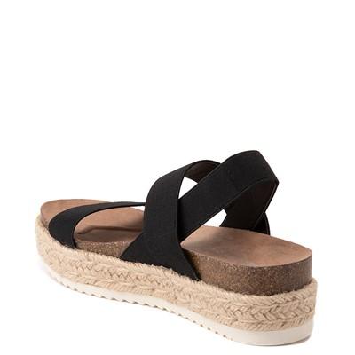 Alternate view of Womens Madden Girl Cassie Espadrille Platform Sandal - Black
