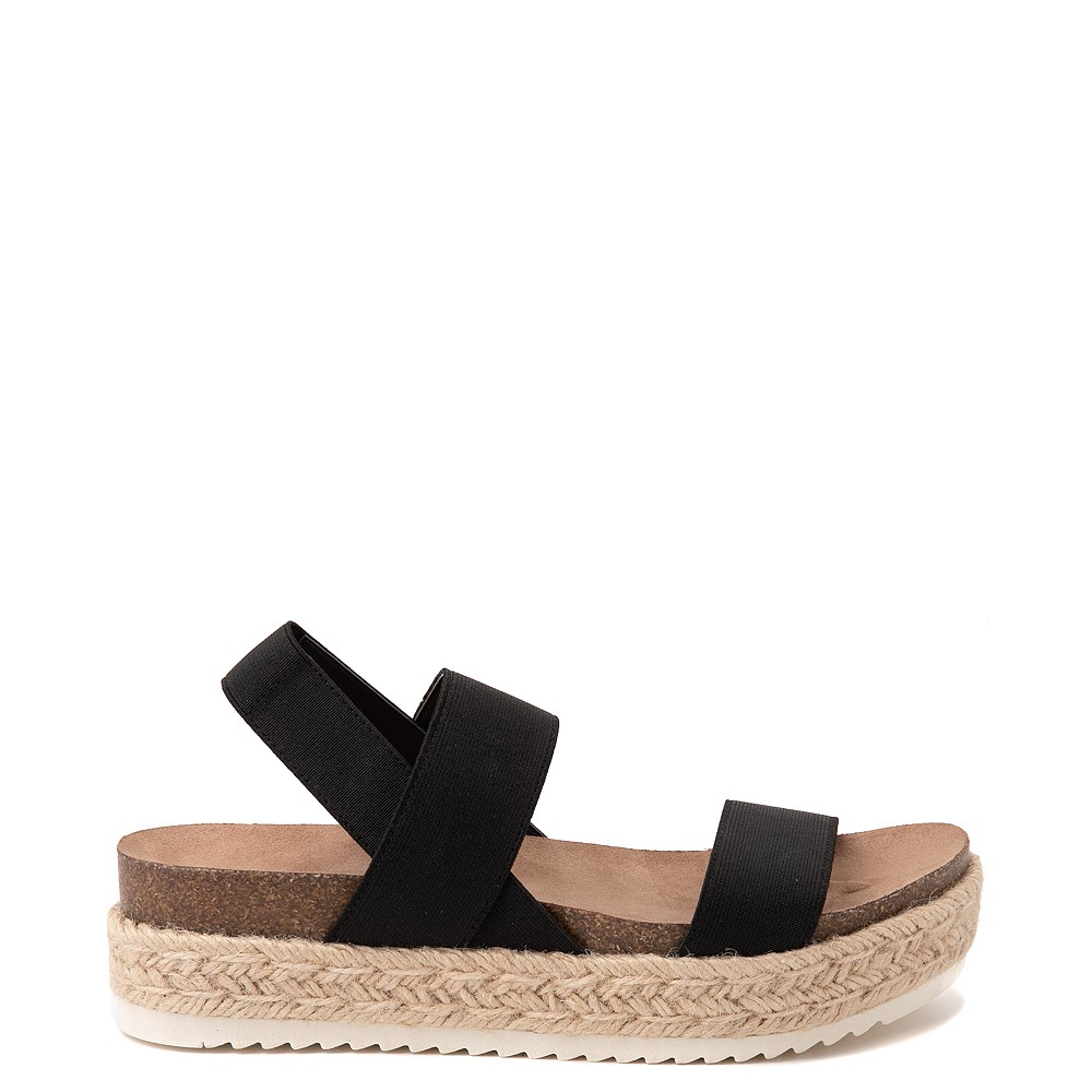 Womens Madden Girl Cassie Espadrille Platform Sandal - Black