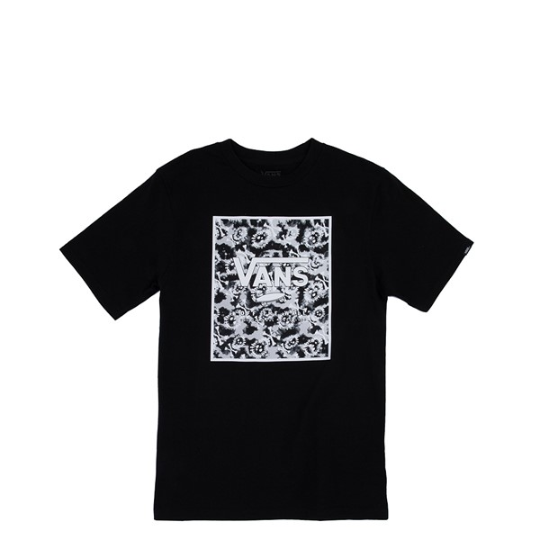 Vans Print Box Tee - Little Kid / Big Kid - Black / Tie Dye Skull