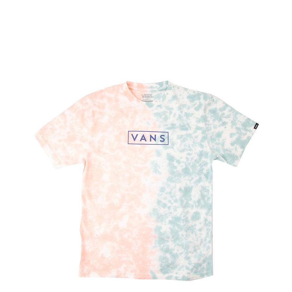 Vans Tie Dye Easy Box Tee - Little Kid / Big Kid - Fusion Coral / Cameo Blue