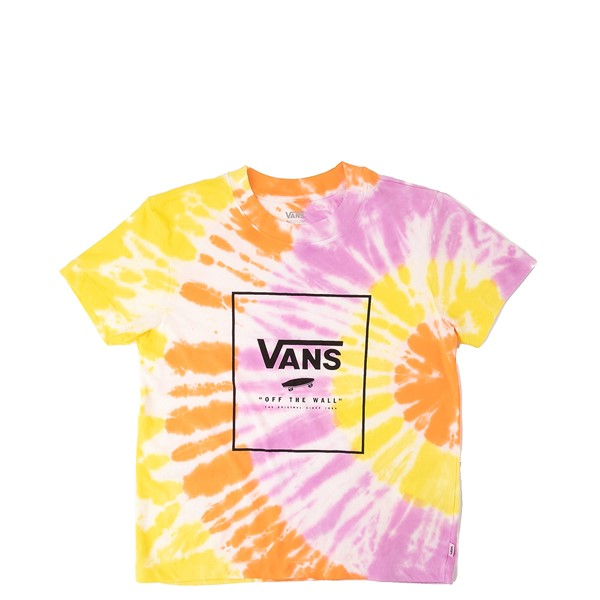 Main view of Vans Whiplash Boxy Tee - Little Kid / Big Kid - Orchid Tie Dye