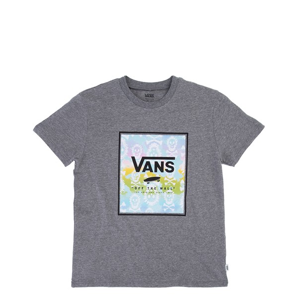 Main view of Vans Skull Box Tee - Little Kid / Big Kid - Cement Heather
