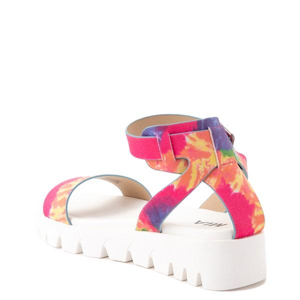 alternate view Womens MIA Mady Sandal - White / Tie DyeALT1