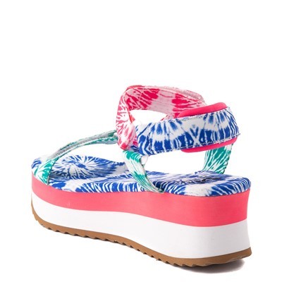 Alternate view of Womens Dirty Laundry Going Out Platform Sandal - White / Tie Dye