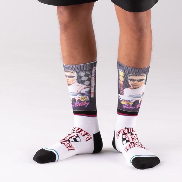 alternate view Mens Stance Ricky Bobby Crew Socks - WhiteALT3