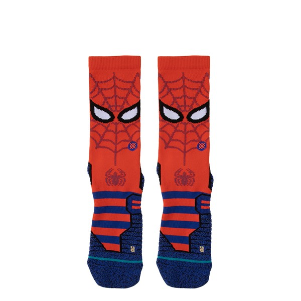 Mens Stance Spidey Crew Socks - Red