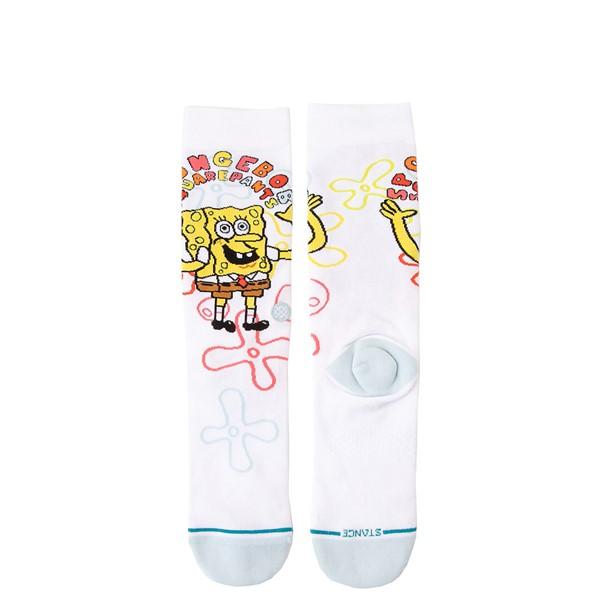 alternate view Mens Stance Spongebob Squarepants™ Imagination Crew Socks - WhiteALT1