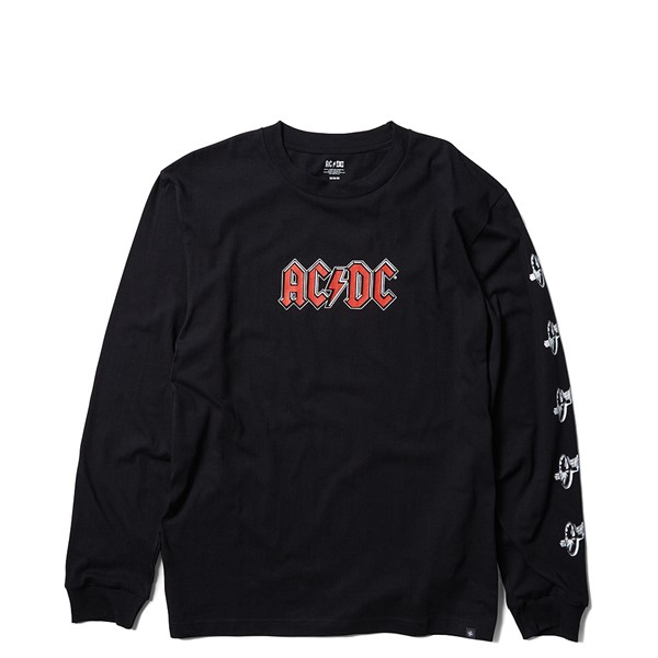 Mens DC AC/DC For Those About to Rock Long Sleeve Tee - Black
