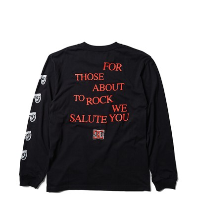 Alternate view of Mens DC AC/DC For Those About to Rock Long Sleeve Tee - Black