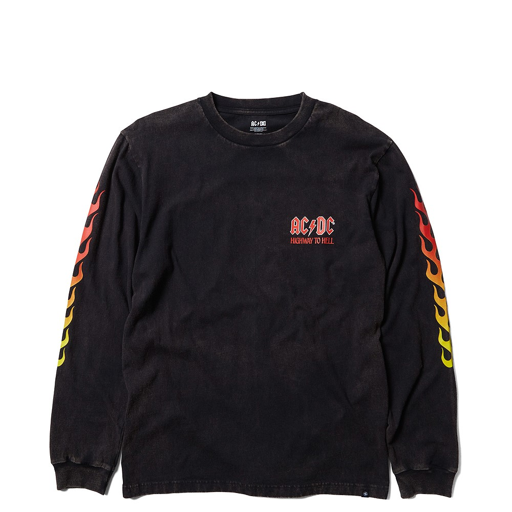 Mens DC AC/DC Highway to Hell Long Sleeve Tee - Black