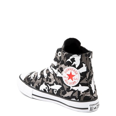Alternate view of Converse Chuck Taylor All Star Hi Sharks Sneaker - Little Kid / Big Kid - Black