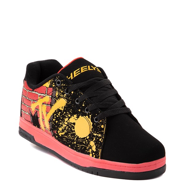 alternate view Mens Heelys Split MTV Skate Shoe - Black / RedALT5